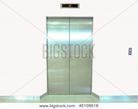 Elevator Door White Wall