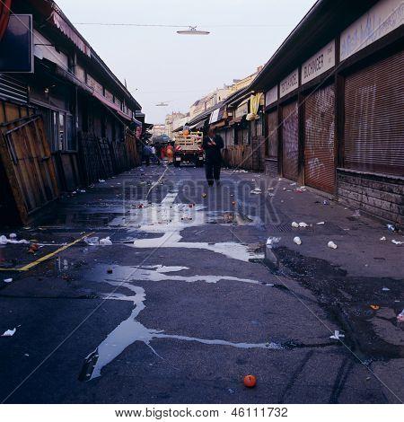 Naschmarkt Vienna Mess Empty Closure Austria
