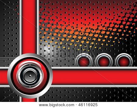 Red loudspeaker design