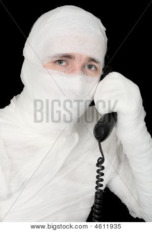 Mummy-businessman Calling On Phone