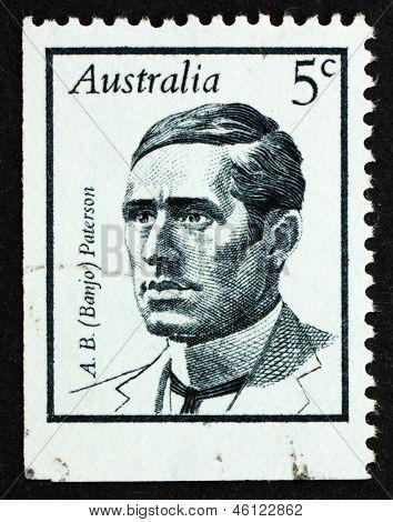 Postage Stamp Australia 1968 Andrew Barton (banjo) Paterson, Poet
