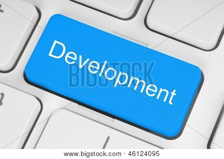 Blue development keyboard button