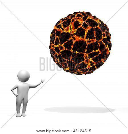 Hombre 3D - Magma