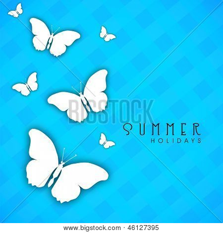 Abstract summer background with butterflies.