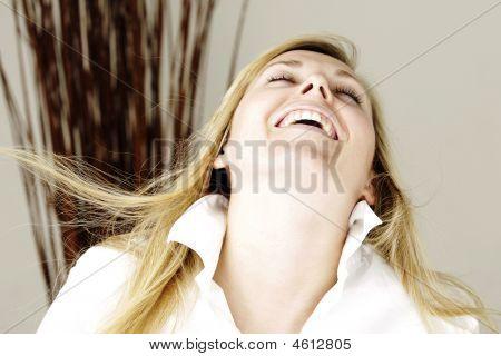 Blonde Model Smiling