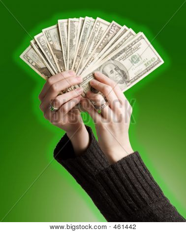 Holding Money Up