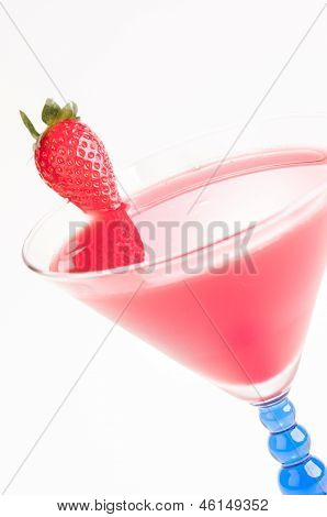 Strawberry Daiquiri Cocktail Close Up