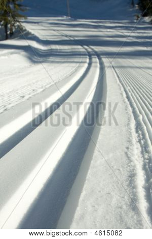 Groomed Ski Trail
