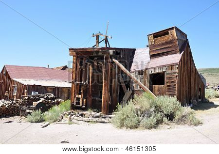 Wooden Sawmill, Bodie Ghost Town