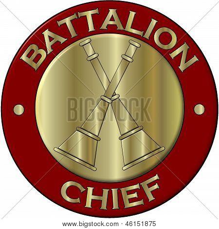 Fire Department Battalion Collar Brass