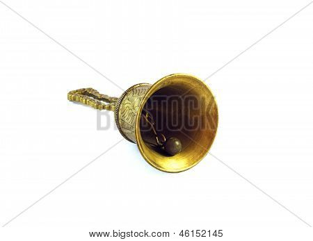 Bronze bell isolated on white