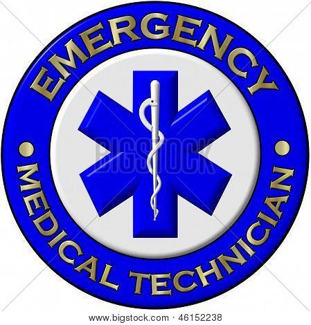 Emergency Medical Technician Collar Brass