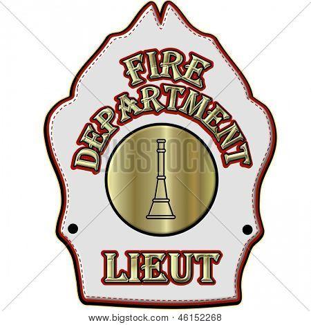 Fire Department Lieutenant Helmet Shield