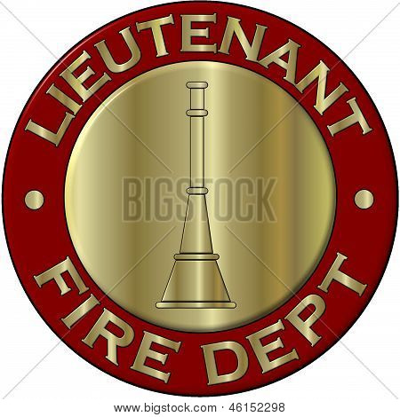 Fire Department Lieutenant Collar Brass