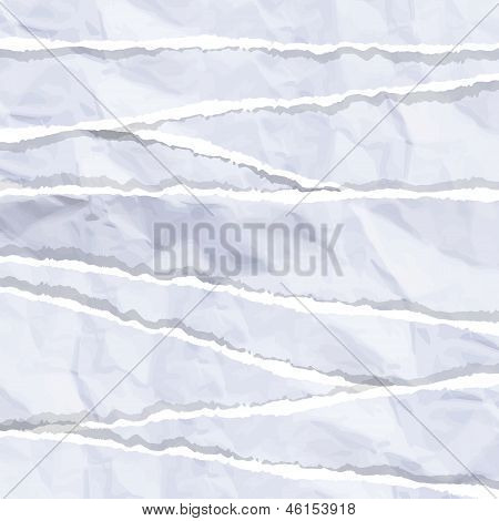 White Torn Piece Of Paper. Vector Design.