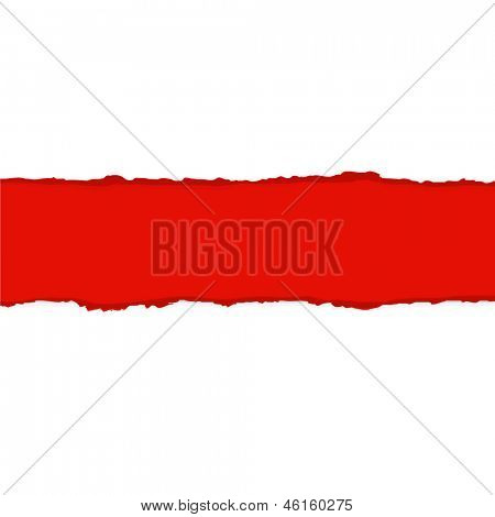 Red Fragmentary Paper Border