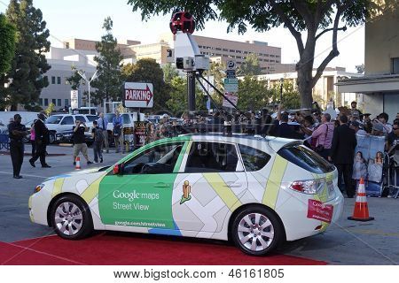 LOS ANGELES - MAY 29: Google car at the premiere of 'The Internship' at the Regency Village Westwood on May 29, 2013 in Los Angeles, California