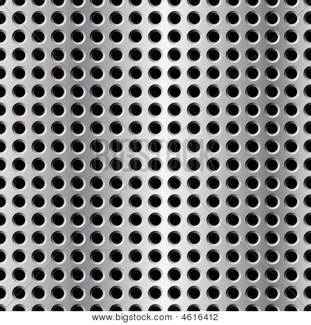 Seamless Illustration Of Perforated Metal Plate