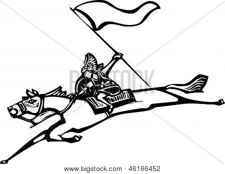Valkyrie With Flag