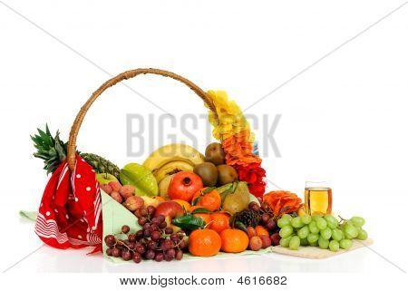 Fruit Basket, White Grape Juice