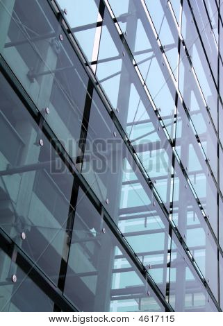 Corporate Glass Building With Concrete Construction