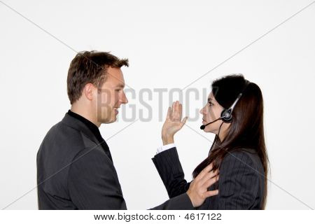 Business Woman Slapping A Male Executive