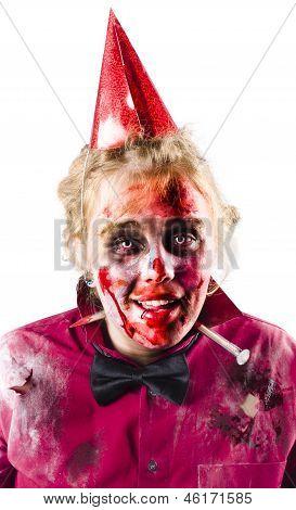 Creepy Woman In Halloween Costume