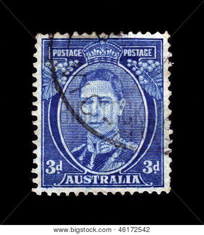 Portrait Of King George Vi, Blue