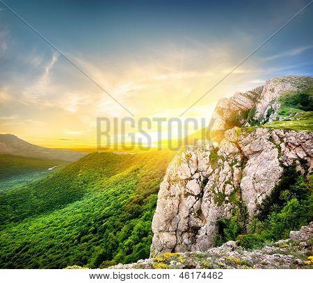 Abend am Berg Charta dag