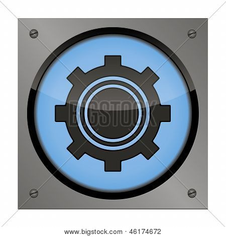 Setup button on the steel plate for your use