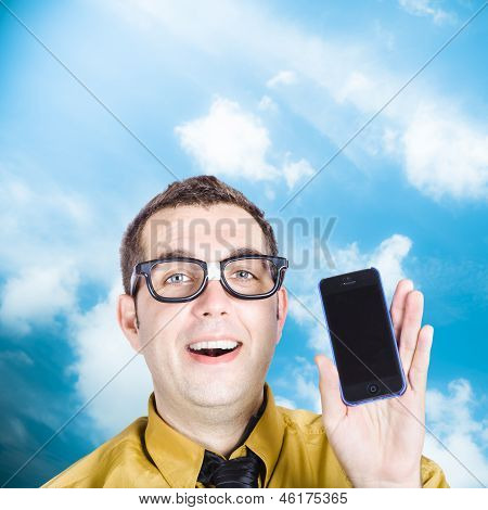 Businessman Showing Blank Smartphone