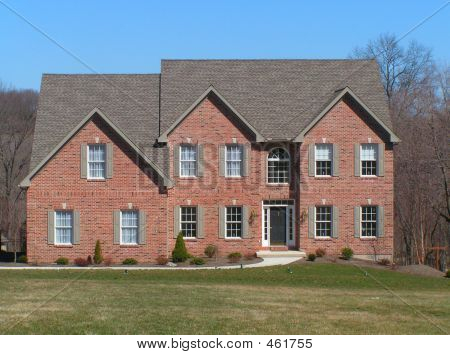 Red Brick Two Story Home