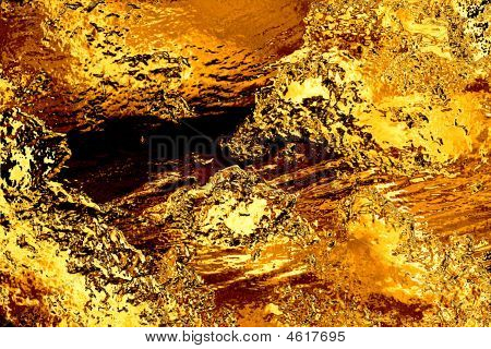 Gold Bullion Foil Background