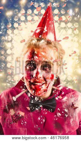 Possessed Dead Girl At Nightclub Wake. Monster Rave