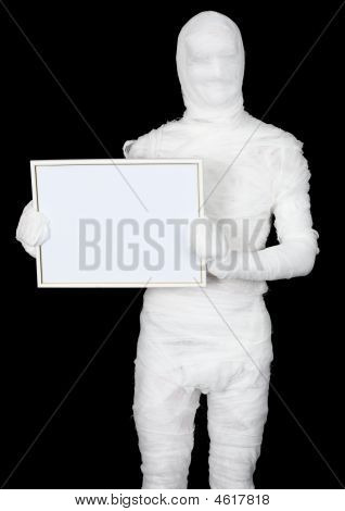Mummy With Blank Frame