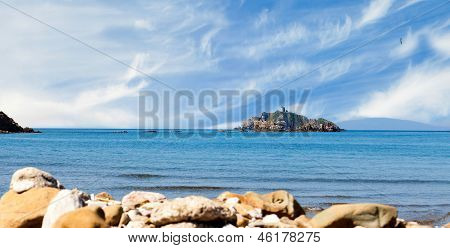 View Of Sparviero Island
