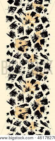 Animal brush stroke vertical seamless pattern background