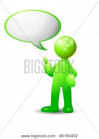 Green Chat Bubble