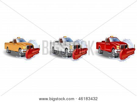 Three Truck Snowplow