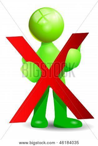 Red Negative Symbol