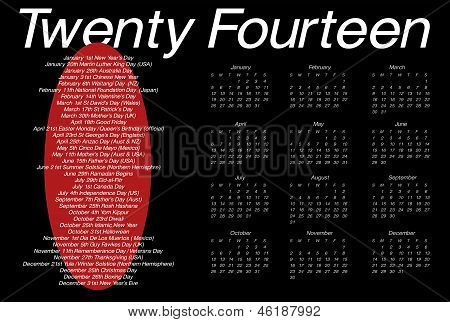 2014-Kalender