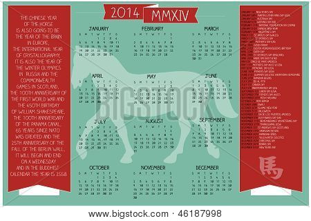 2014 Holidays And Dates  Calendar.eps