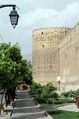 pic of shiraz  - Street near wall of fortress Arg - JPG