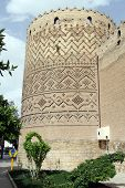 image of shiraz  - Tower on the corner of Fortress Arg - JPG