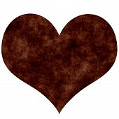 picture of loveless  - Rusty heart that is isolated in white - JPG