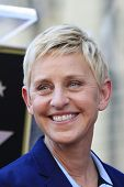LOS ANGELES - MAY 13: Ellen DeGeneres at a ceremony where Steve Harvey is honored with a star on the