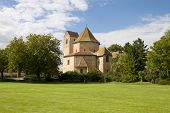 View At Ottmarsheim Abbey Church In France