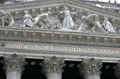 NEW YORK - MAY 30: The New York Stock Exchange facade is shown on May 30, 2013 in New York City. The