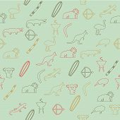 foto of didgeridoo  - Seamless pattern with colorful beautiful different icons - JPG