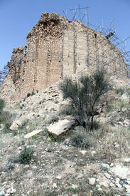 stock photo of zoroastrianism  - Restoration of zoroastrian temple Qal - JPG